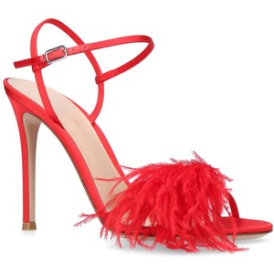 Red Hot Feather Shoes!