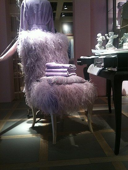 Simplistic Chair Upholstered in Fabulous Feathers