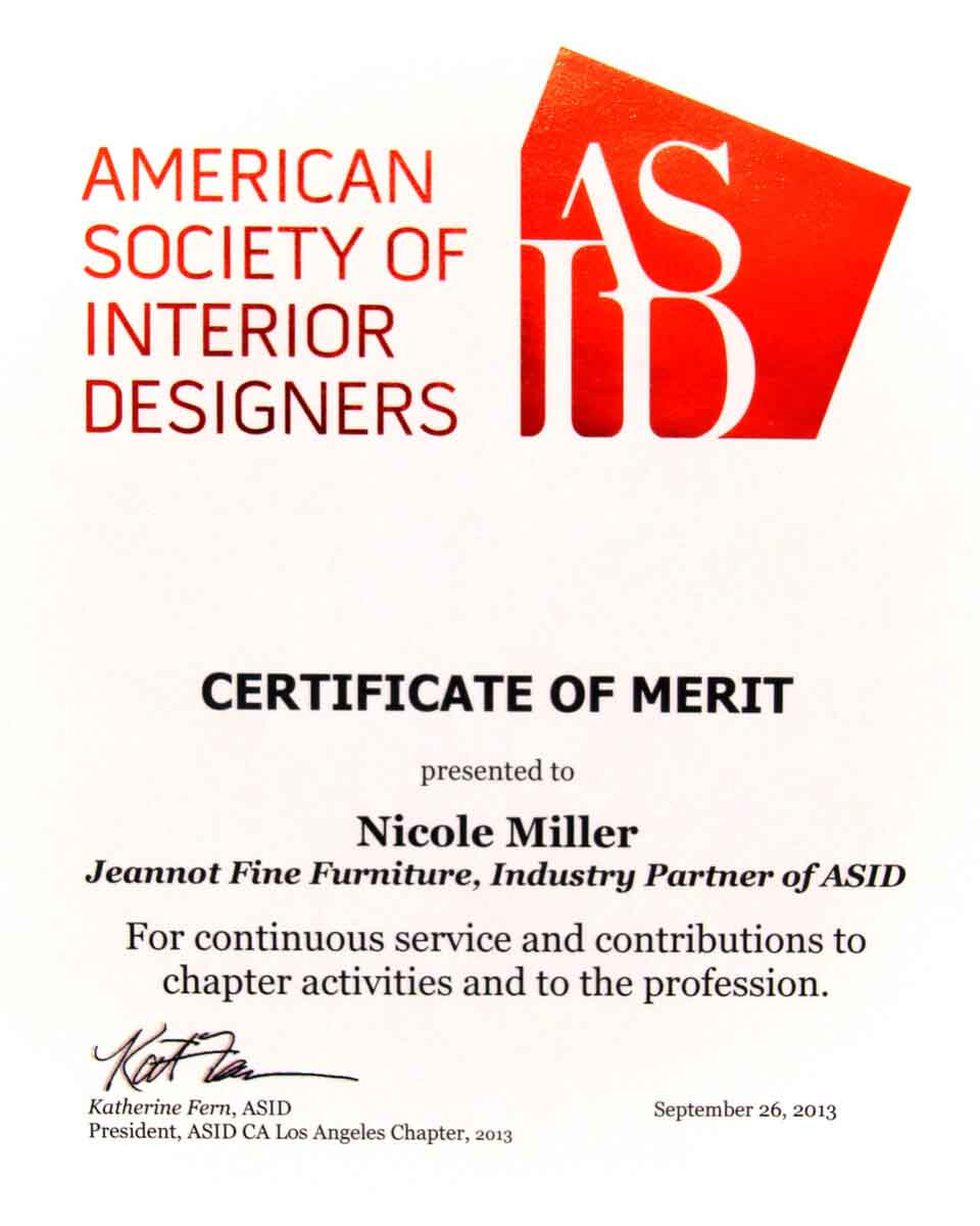 ASID Industry Partner Merit Award