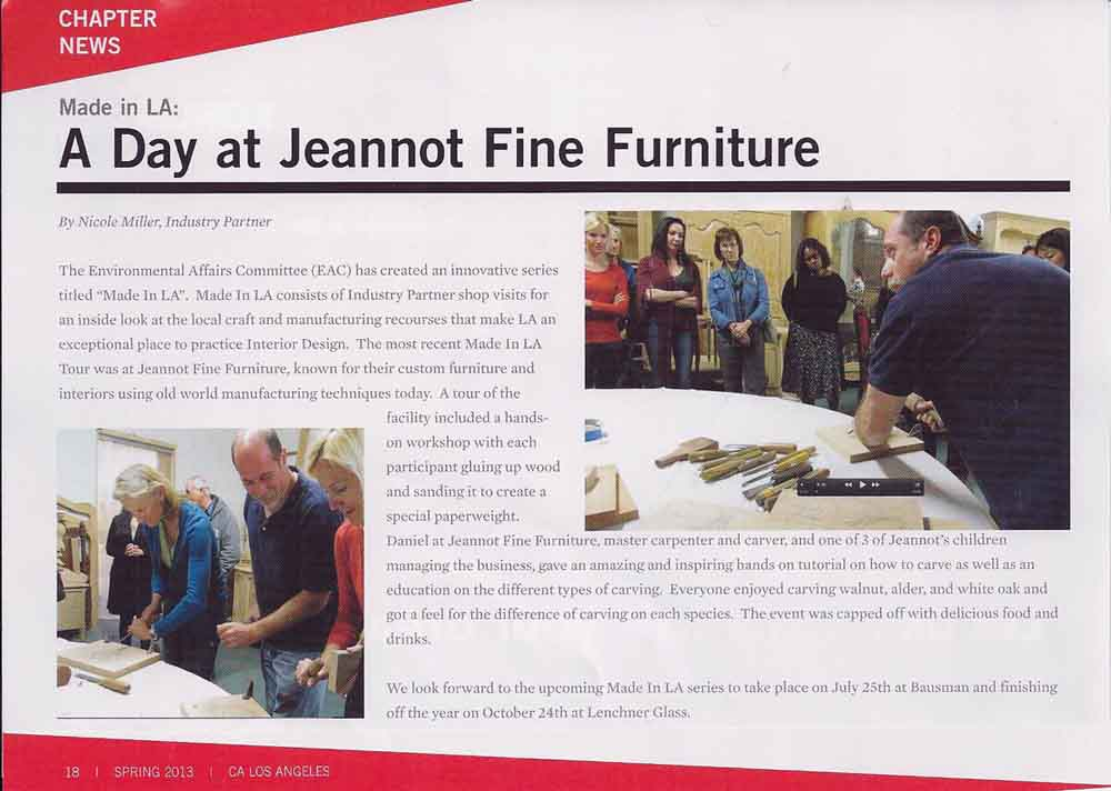A Day At Jeannot Fine Furniture