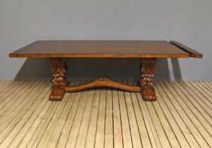 Carved Trestle Table By Jeannot Fine Furniture