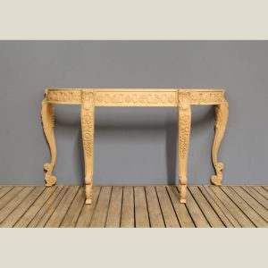 French Provincial Traditional Carved Console
