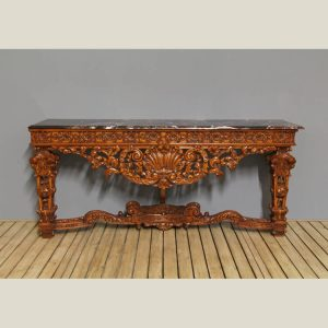 Rococo Traditional Carved Console