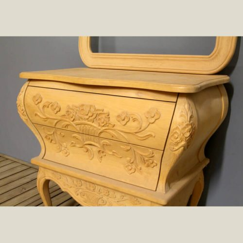 Traditional French Provincial Bombe Chest